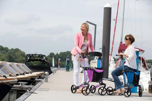 Sanitätshaus Lappe - mobil mit Rollator - Beratung im Reha-Zentrum Bad Bevense