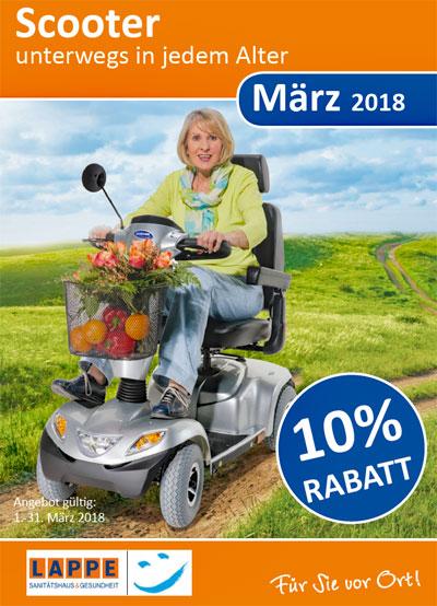 Sanitätshaus Lappe - Rabattaktion März 2018 für Scooter