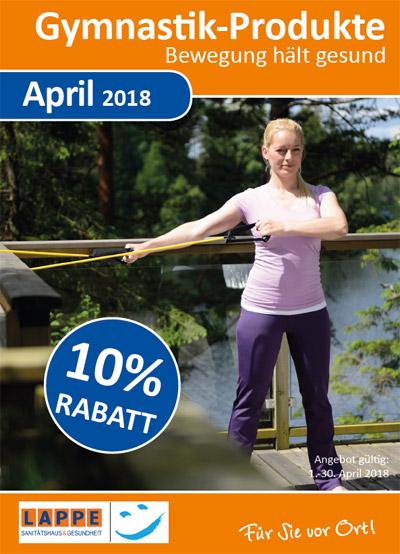 Sanitätshaus Rabatt im April 2018 - 10 % auf Gymnastik-Produkte
