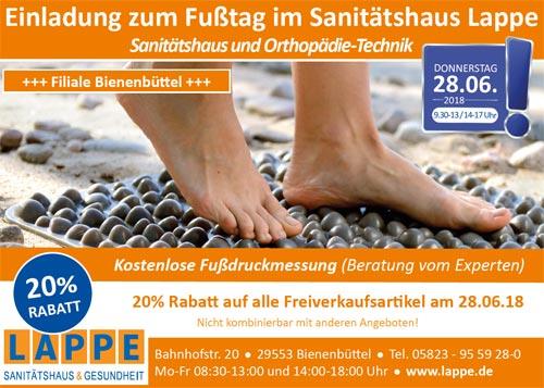 Sanitätshaus Lappe - Fußtag in Bienenbüttel