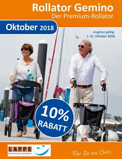 Sanitätshaus Lappe Uelzen - Rabattaktion Oktober 2018 - Rollator Gemino