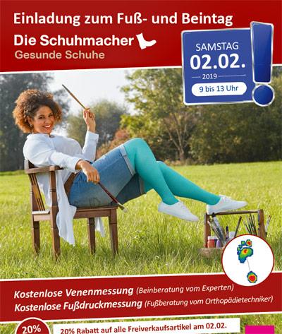 Sanitätshaus Lappe - Fuß- und Beintag bei Die Schuhmacher in Uelzen am 2.2.2019