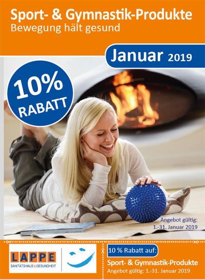 Sanitätshaus Lappe - Rabatt auf Sport- und Gymnastikprodukte - Januar 2019