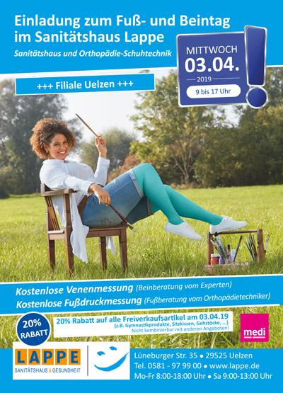 Sanitätshaus Lappe - Fuß- und Beintag in Uelzen am 4.3.2019