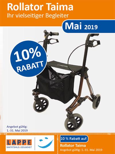 Sanitätshaus Lappe - Rabatt im Mai 2019 - Rollator Taima