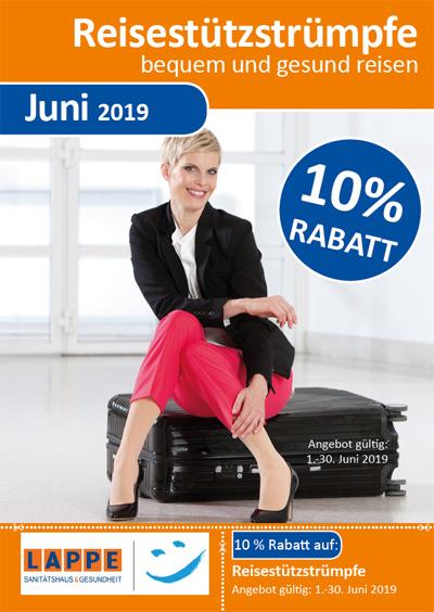 Sanitätshaus Lappe - Rabatt im Juni 2019 auf Reisestützstrümpe