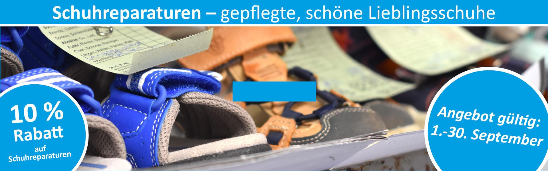 Sanitätshaus Lappe - Rabattaktion September 2019 - Schuhreparaturen