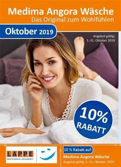 Sanitätshaus Lappe - Rabatt Oktober 2019 - Angora-Wäsche