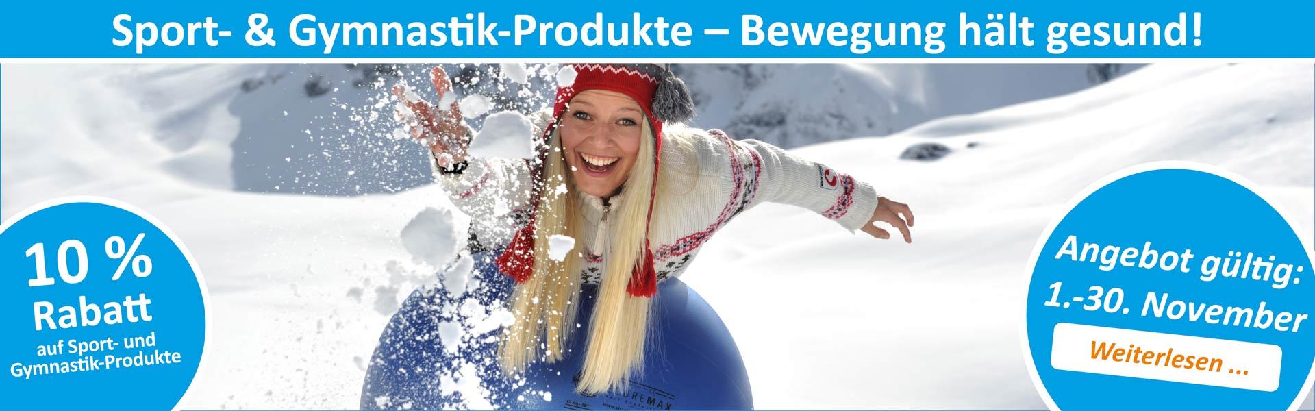 Sanitätshaus Lappe - Rabattaktion November 2019 - Sport- und Gymnastikprodukte