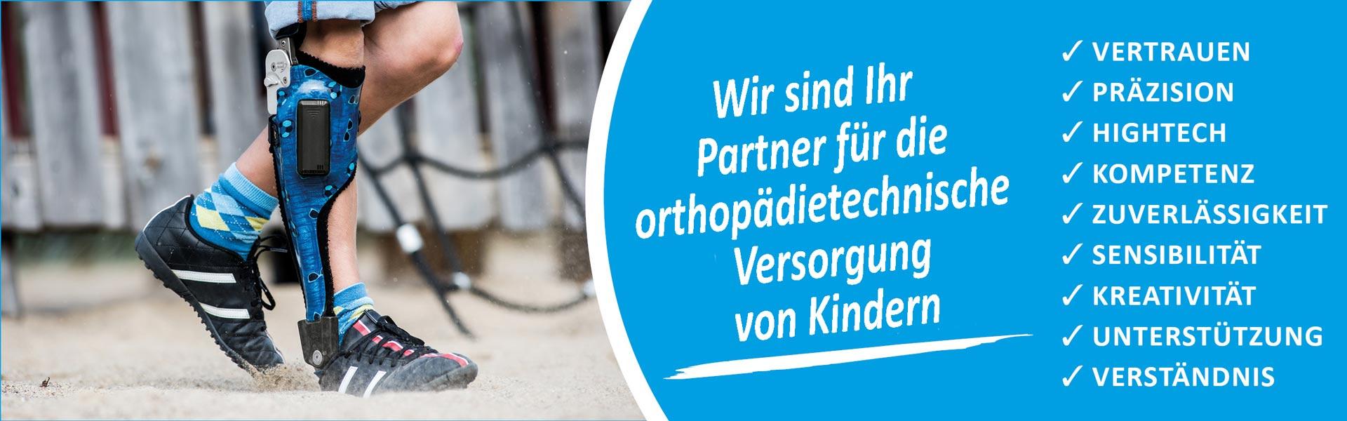 Sanitätshaus Lappe - orthopädietechnische Versorgung von Kindern