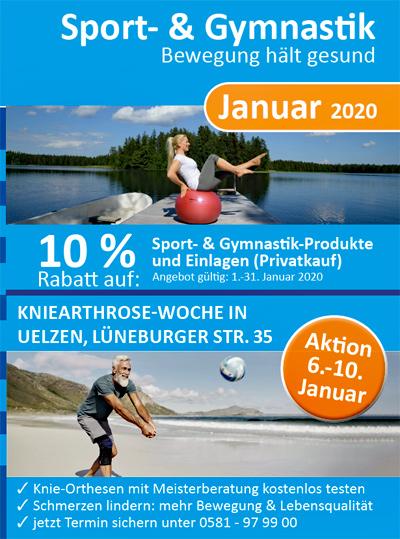 Sanitätshaus Lappe - Rabattaktion Januar - Sport- und Gymnastikprodukte