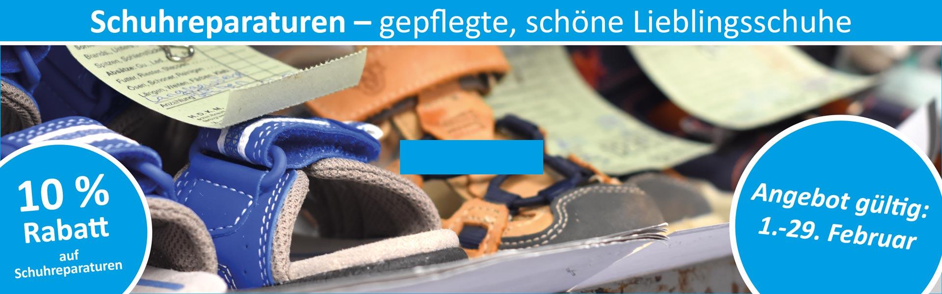 Sanitätshaus Lappe - Rabattaktion Februar 2020 - Schuhreparaturen