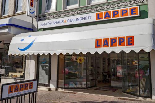 Sanitätshaus Lappe - Standort - Uelzen - das Ladengeschäft außen